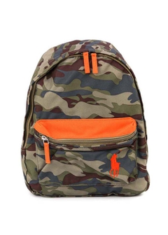 RALPH LAUREN - ARMYCAMO CAMP BACKPACK SM