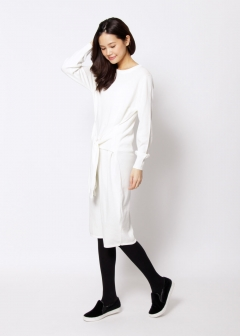 URBAN RESEARCH warehouse - Tops & Onepiece - KBF+ 袖リボンニットワンピース