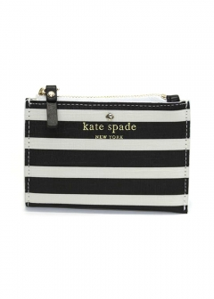 kate spade new york - 【3/8 PRICE-DOWN】FAIRMOUNT SQUARE cori ボーダー柄 キーリング付 コイン・カードケース