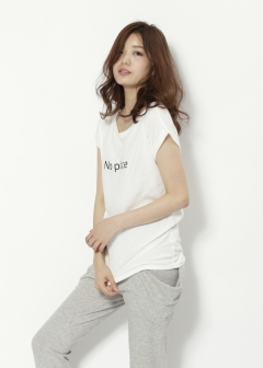 Roomy's OUTLET - NO PLACE Tシャツ【SPIRAL GIRL】