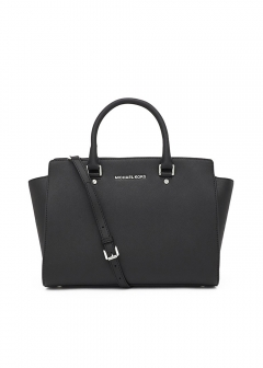 Large Top Zip Satchel|Black|ハンドバッグ|MICHAEL KORS (N)