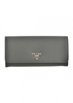 PRADA - Wallet Collection - - 二つ折り長財布 / SAFFIANO METAL ORO 【MARMO】