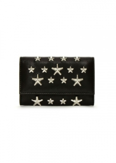 JIMMY CHOO - NEPTUNE キーケース / CALF LEATHER WITH STARS 【BLACK】