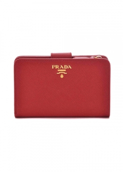 PRADA - Wallet Collection - - 二つ折り財布 / SAF.METAL ORO 【FUOCO】