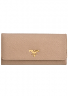 PRADA - Wallet Collection - - SAFFIANO METAL ORO / PASSケース付き WALLET 【CAMMEO】