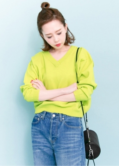 URBAN RESEARCH warehouse - Tops & Onepiece - Vネックショートニット