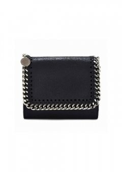 ファラベラ3つ折り財布 / SMALL FLAP WALLET SHAGGY DEER FALABELLA 【BLU】