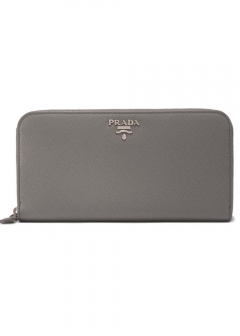 PRADA - Wallet Collection - - SAF.METAL ORO / ラウンドジップ長財布 【MARMO】
