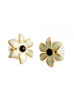 Cream Multi Lovely Lillies Mini Flower Studs  フラワーモチーフ スタッド ピアス