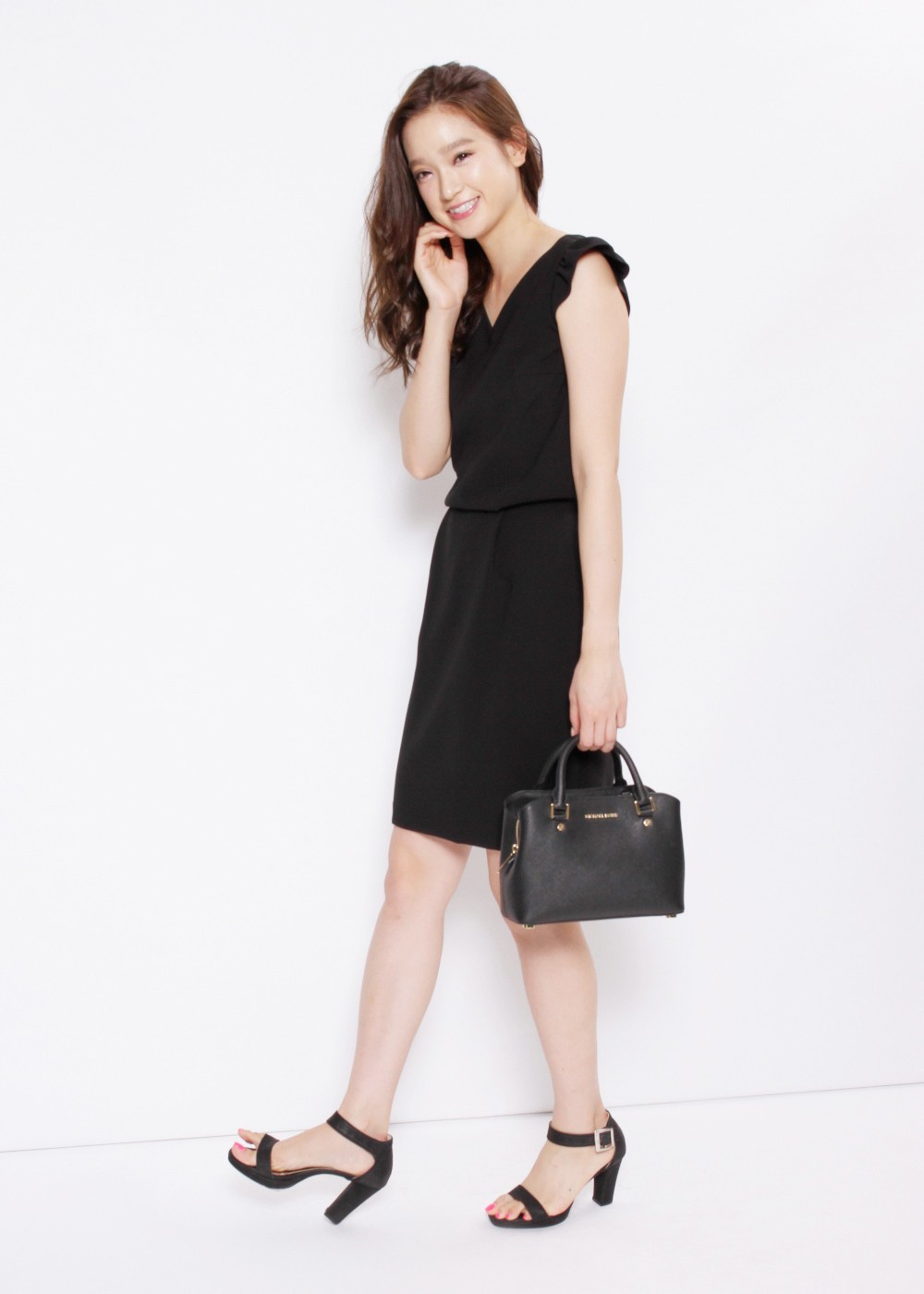 Small Satchel|Black|ハンドバッグ|MICHAEL KORS
