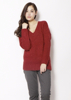 Vネックネップニット|RED|ニット|URBAN RESEARCH warehouse Tops&Outer|最大80%OFF