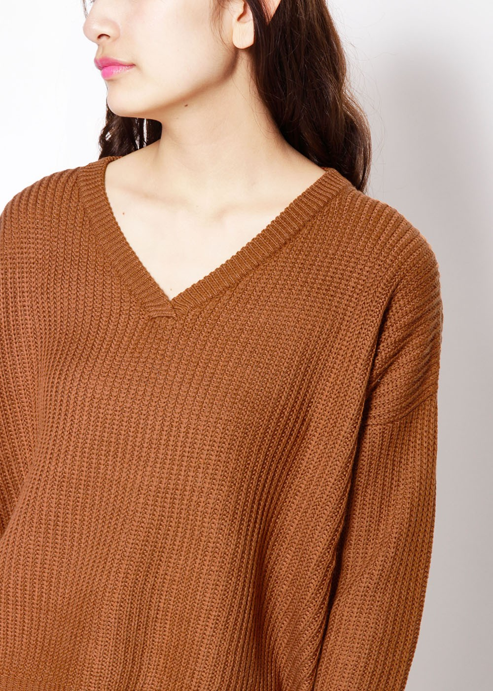 Vネックリブワイドニット|BROWN|ニット|URBAN RESEARCH warehouse Tops&Outer|最大80%OFF