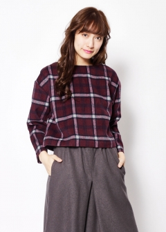 KBF+ 起毛チェックトップス|WINE|シャツ・ブラウス|URBAN RESEARCH warehouse Tops&Outer|最大80%OFF
