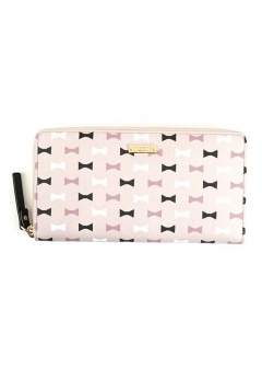 kate spade new york - 【PRICE-DOWN】Bow Tile ラウンドファスナー長財布
