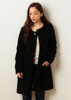 ROYAL PARTY / ROYAL PARTY LABEL / SPIRALGIRL / MIIA - 【ROYAL PARTY】ノーカラービジューコート