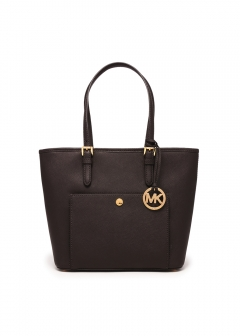 Medium Top Zip Snap Pocket Tote