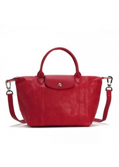 LE PLIAGE CUIRハンドバッグ【S】【CERISE】