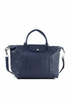 LE PLIAGE CUIRハンドバッグ【M】【NAVY】