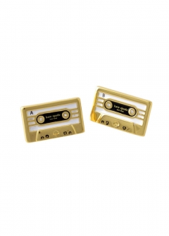 【3/8 NEW】JAZZ THINGS UP cassette studs カセットテープモチーフ スタッド ピアス