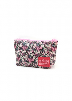 【5/15新着】Liberty Art Fabric Nylon Clutch|ブラック/ピンク|ポーチ|Manhattan Portage