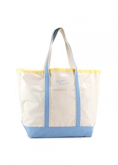 【最大35%OFF】RICHELIEU TOTE BAG|ECRU LIGHT BLUE|トートバッグ|MAISON KITSUNE(C)