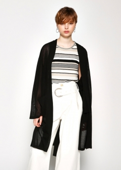 MONOTONE - BELTED GOWN CARDIGAN