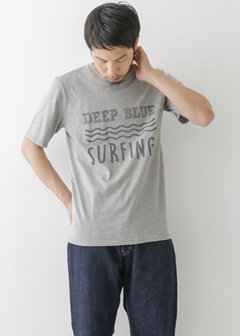 URBAN RESEARCH warehouse - mens - WAVE PRINT TEE