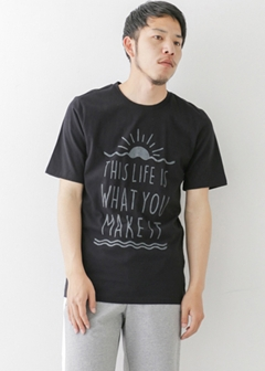 URBAN RESEARCH warehouse - mens - SUNRISE PRINT TEE