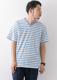 URBAN RESEARCH warehouse - mens - Border V/N TEE
