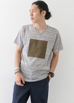 URBAN RESEARCH warehouse - mens - 天竺V/NプリントTEE(square)