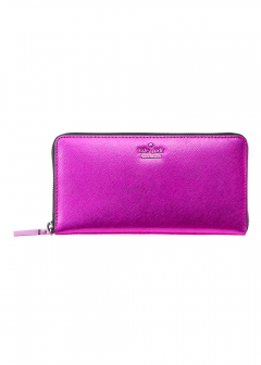 kate spade new york - wallet and more - METALLIC LACEY ラウンドファスナー長財布