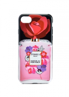 【iPhone8/iPhone7 対応】 パフュームボトルシリーズ Perfume Case with Red Fower Bo
