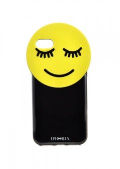 【iPhone8/iPhone7 対応】 Round Case Yellow Smiley