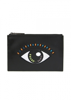 IMPORT BRAND COLLECTION - 【KENZO】【国内未発売】クラッチバッグ / ポーチ SMALL LEATHER CLUTCH W EYE