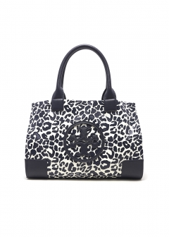 Tory Burch - MINI ELLA PRINTED / トートバッグ 【TORY NAVY CLOUDED LEOPARD】