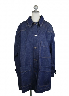 IMPORT BRAND COLLECTION - 【MM6 MAISON MARGIELA】OVER SIZE DENIM COAT W BOW ON THE BACK