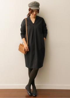 URBAN RESEARCH warehouse - Tops & Onepiece - Vネックカットソーワンピース