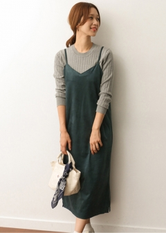 URBAN RESEARCH warehouse - Tops & Onepiece - スエードキャミワンピース