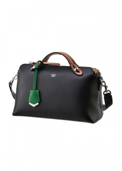 BY THE WAY SMALL / 2WAY BAG 【BLACK+BEIGE+GREEN TAG】