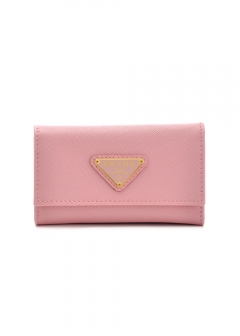 PRADA - Wallet Collection - - SAFFIANO TRIANGOLO / キーケース 【PETALO】