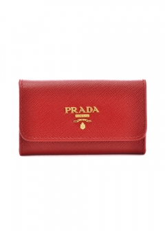 PRADA - Wallet Collection - - SAFFIANO METAL ORO / キーケース 【FUOCO】