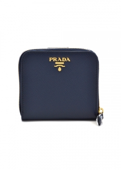PRADA - Wallet Collection - - SAF.METAL ORO / ラウンドジップ コンパクト財布 【BALTICO】