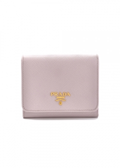 PRADA - Wallet Collection - - 三つ折り財布 / SAF.METAL ORO 【MUGHETTO】