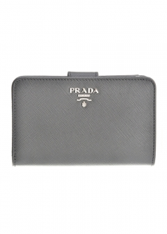PRADA - Wallet Collection - - 二つ折り財布 / SAFFIANO METAL ORO 【MARMO】