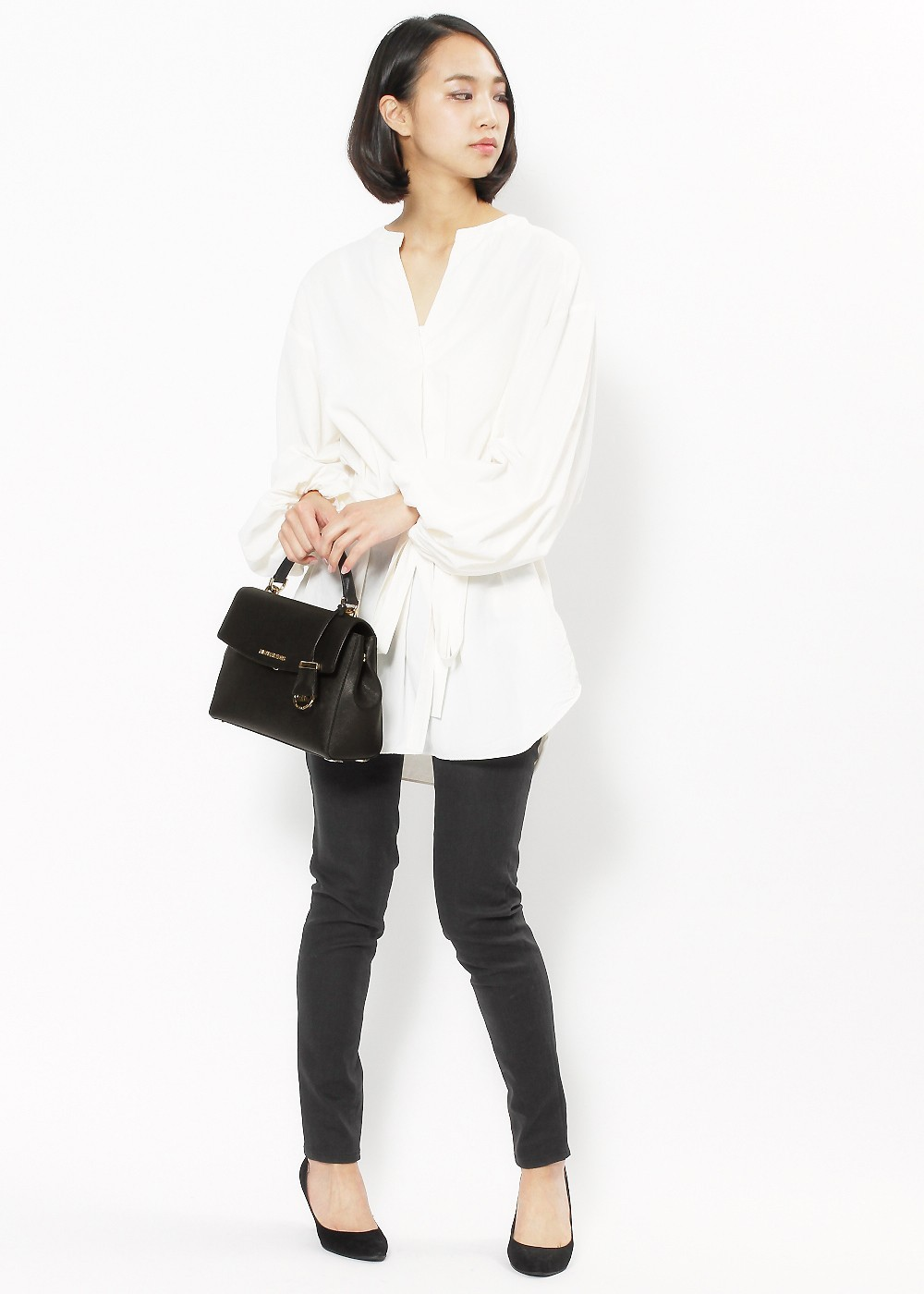 1663c8306ac9 【MICHAEL KORS】Ava BLACK ハンドバッグ オンラインファミリーセール - ブランドバッグ ...