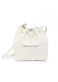 BALENCIAGA - 【BALENCIAGA】NAVY BUCKET AJ / SHOULDER BAG 【BLANC】