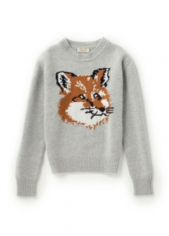IMPORT BRAND COLLECTION - 【MAISON KITSUNE】FOX HEAD PULLOVER KNIT