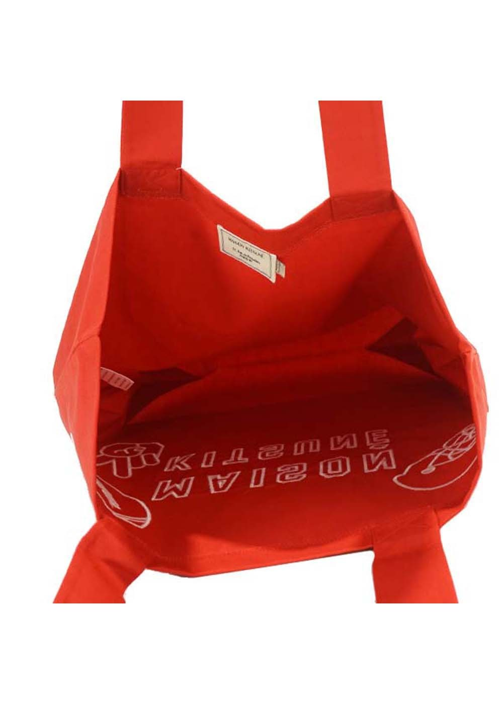 【最大35%OFF】TOTE BAG FOOTBALL EMBROIDERY|RED|トートバッグ|MAISON KITSUNE(C)