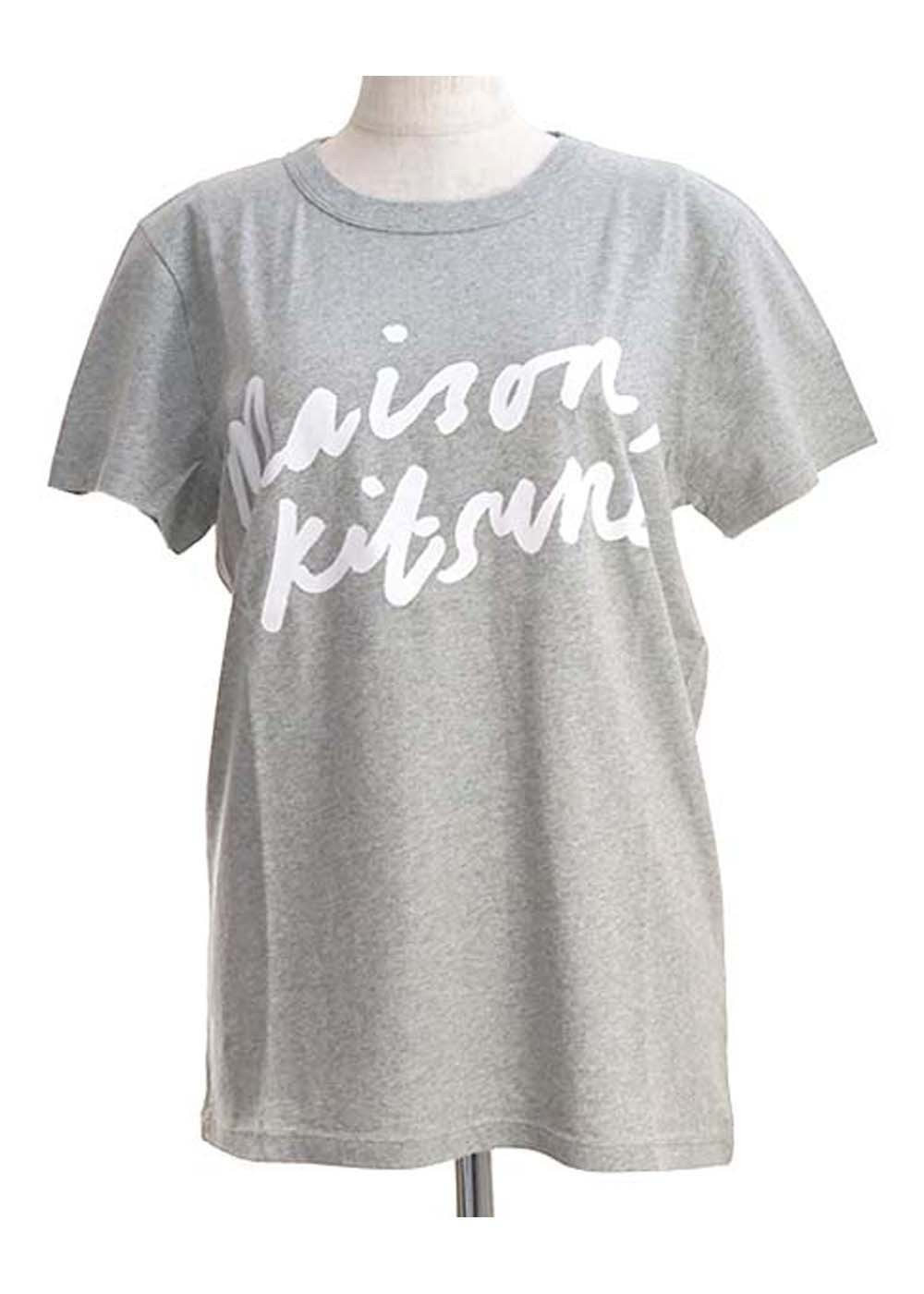 【最大35%OFF】TEE-SHIRT HANDWRITING|GREY MELANGE|Tシャツ|MAISON KITSUNE
