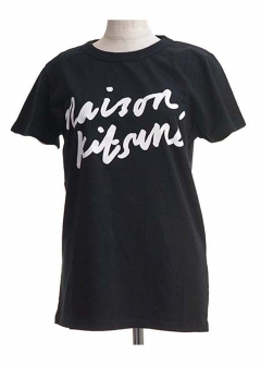 【最大35%OFF】TEE-SHIRT HANDWRITING|BLACK|Tシャツ|MAISON KITSUNE(C)